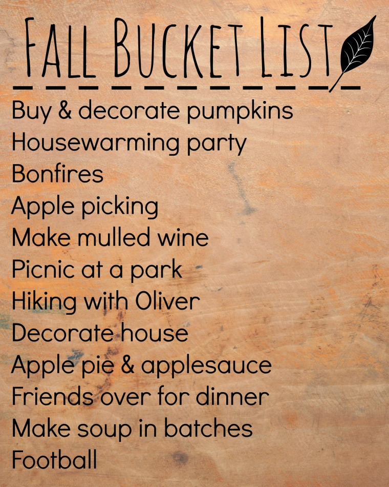 fall bucket list 2